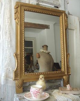 Antiker Brautspiegel Holzrahmen aus Frankreich