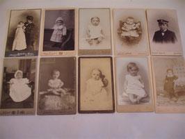Set antiker Kabinettfotos Kinderfotos um 1900