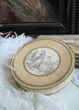 Dekorative alte runde Pappschachtel Frankreich
