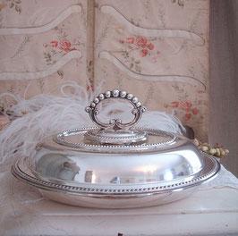 Viktorianischer Speisenteller mit Deckel aus England
