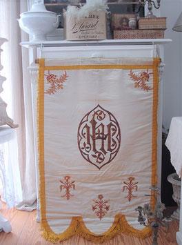 Antike Fahne / Prozessionsflagge aus Frankreich