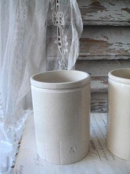 Shabby: Alter Steingut Pot/Vorratsgefäß aus England