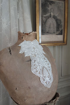 Antik Jabot Spitzenkragen Frankreich