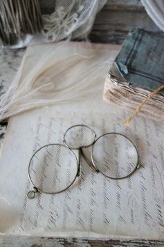 Dekorative antike Brille Nasenzwicker Frankreich