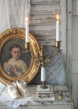 Wunderschöner antiker Kaminleuchter 3-flammig, Frankreich 19. Jahrh.
