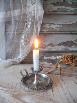 Antiker kleiner 800 Silber Kerzenständer Frankreich