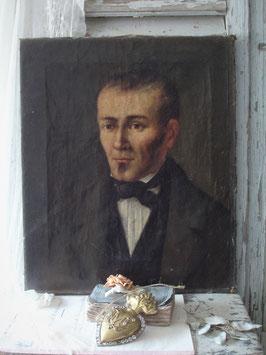 Antikes Porträt eines jungen Mannes, Frankreich 19. Jahrhundert