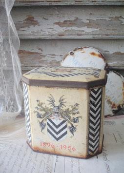 Dekorative alte Metalldose / Jubiläumsdose aus Frankreich