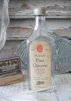 Dekorative Apotrheken Glasflasche mit altem Etikett England