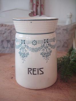 Shabby: Altes Keramik Vorratsdose REIS