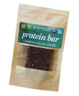 Protein bar - Hemp seeds and raw cacao
