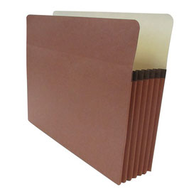 """Accordion Expanding Pocket File with Straight - Cut Tab (Letter Size - 5-1/4"""")"""