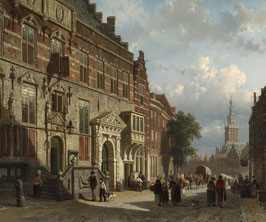 The Town Hall on the Burchtstraat with the Stevenskirk