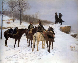 A Group of Cavalry in the Snow