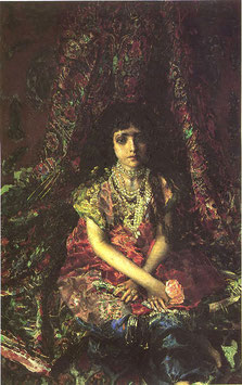 Portrait of a Girl Against a Persian CarpetItem name
