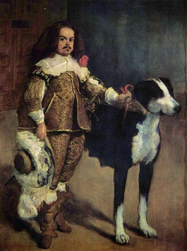 Portrait of a Buffoon with a Dog