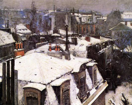 Rooftops Under Snow
