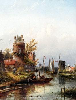 Vue De Buiksloot Pres d'Amsterdam