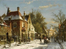 A Dutch Village In Winter