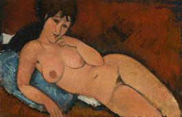 Nude on a Blue Cushion,