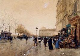 Paris, Le Louvre, Le Quai De La Megisserie Et Les Marchands D'Oiseaux