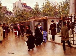 Leaving La Madeleine, Paris