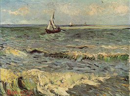 Fishing Boats at Sea, Vincent van Gogh