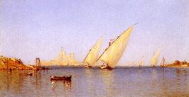 Fishing Boats coming into Brindisi Harbor