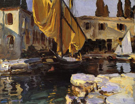 Boat with The Golden Sail, San Vigilio