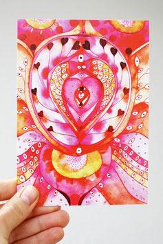 """Postkarte A6 """"Herzmandala"""""""