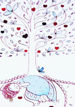 "Postkarte A6 ""Königlicher Apfelbaum"""