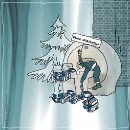 Weihnachtskarte  Radiologie Motiv I-V