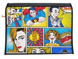 Wechselklappe Superman für Messengerbag oder Lehrertasche
