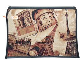 Wechselklappe Paris Gobelin Messengerbag oder Lehertasche