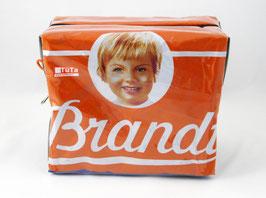 Große orangene Kulturtasche retro Brandt Zwieback