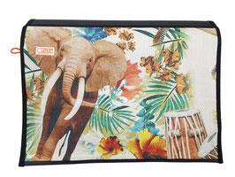 Wechselklappe Elefant Afrika Messengerbag oder Lehertasche