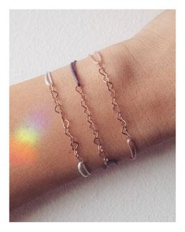 Armband Love  Rosévergoldet