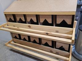 Einzellegenest 2-etagig, 10 Loch aus Holz