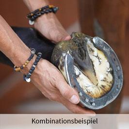 Tibet-Silber mit Lava, Jaspis und Hämatit
