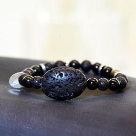 Lava mit Obsidian und Hämatit - 2