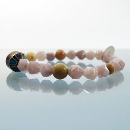 Achat-Armband mit Tibet-Emaile