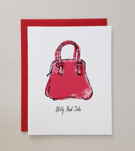 holly red tote