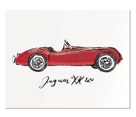 "Jaguar XK 120   11x14"" print"