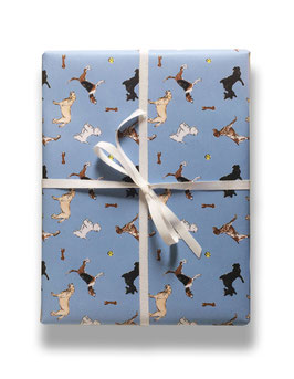 buddy in blue - gift wrap