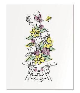 "Bonjour Spring 11x14"" print"