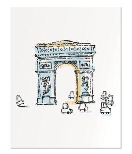 "Arc de Triomphe 11x14"" print"