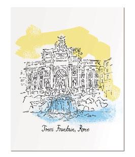 "Trevi Fountain, Rome 11x14"" print"