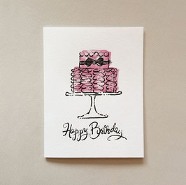 ruffle cake - note card