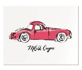 """MGA Coupe   11x14"""" print"""