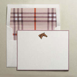 Horse head - flat note (box of 8)